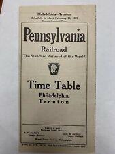 PRR Philadelphia – Trenton timetable 1926 Pennsylvania Railroad