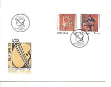 Portugal Minkus #1253 and 1254 - Europa 75 - First Day of Issue.