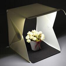 Fotostudio Set mit LED Leuchte 24 x 23 x 22.6 cm 2 Hintergrund(Weiß, Schwarz)