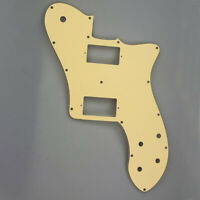 Fits 72 Tele Deluxe Reissue Guitar Pickguard PAF Humbucker, 3Ply Cream Yellow