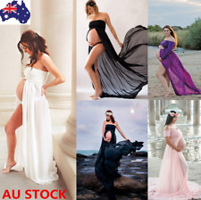 Pregnant Women Chiffon Bandeau Long Skirt Maternity Photography Props Maxi Dress