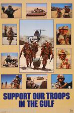 POSTER : PATRIOTIC: SUPPORT OUR TROOPS IN THE GULF - FREE SHIP   #3321  RAP136 A