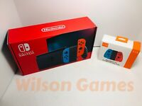 NEW Nintendo Switch 32GB Console Red and Blue Joy-Con Ver. 2 + 2nd controller!