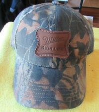 NEW MILLER HIGH LIFE Mossy Oak Adjustable Camouflage Cap Hunting Camo Hat