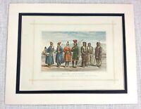 1882 Antico Stampa Tradizionale Inuit Eskimo Costume Abito Lapp Mongoli Persone