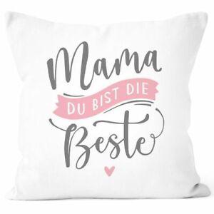 Kissen-Bezug Spruch Mama du bist die Beste Herz Geschenk Muttertag Geburtstag