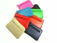 Ladies Girls Small Premium Super Soft Leather Coin Purse Key Holder Credit Card
