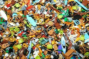 LEGO 1000 PIECES UTENSILS WEAPONS FOOD CUPS PIZZA FOR MINIFIGURES