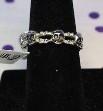 316L Stainless Steel Filigree SKULLS Crossbones Ring SIZE 11 Wedding Band 6mm