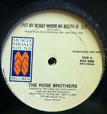 """The Rose Brothers - I Put My Money Where My Mouth Is 12"""" VG+ MSS 3005 Vinyl 1987"""