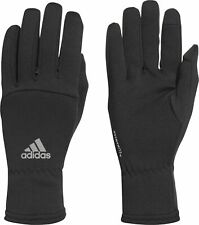 adidas ClimaWarm Running Gloves Reflective Black Recycled Touchscreen Compatible