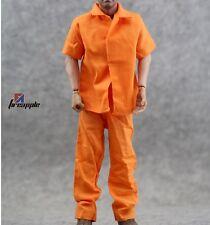 """1/6 Scale Hot Orange Prisoners clothes Uniform For 12"""" Action Figure Toys"""