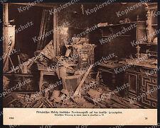 or. Bufa-Foto Bombenangriff Frankfurt Main Wohnung Ruine Heimatfront Hessen 1918