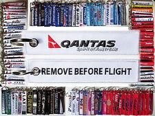 QANTAS Australia tag keyring keychain REMOVE BEFORE FLIGHT airbus 380 boeing 747
