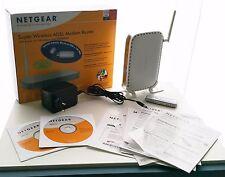 NETGEAR 108 MBPS WIRELESS ADSL MODEM ROUTER DG834GT + ADAPTER WG111T - REPAIR