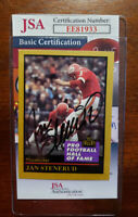 Jan Stenerud 1991 Enor Hall Of Fame Jsa Coa Hand Signed Authentic Autograph