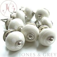 SHABBY CHIC CERAMIC FURNITURE DRESSER CUPBOARD DRAWER DOOR KITCHEN HANDLES KNOBS