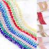 98pcs Crystal Beads Wholesale Faceted Crystal Gemstone Loose Beads AB 4*6MM