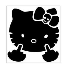 Kitty Face Giving The Finger 5 X 6 Vinyl Car Truck Window Decal Stickers