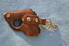 "Walther Pistol Lighter Leather Holster Butane Bronze COlor Plastic Grip 2 7/8"""
