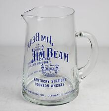 "JIM BEAM BOURBON WHISKEY GLASS BAR WATER JUG/PITCHER *  * 5 3/8"" TALL"