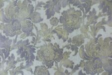 "ZOFFANY CURTAIN FABRIC DESIGN ""Gilded Damask"" 3 METRES ANTIQUARY LINEN"