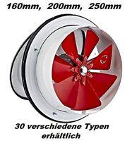 250mm Ventilator-Absaugung Be-u-Abluft Wand Ablüfter Abluftventilator