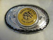 Ladies shooting trophy belt buckle (Auburn trap)