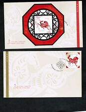 CANADA 2002  YEAR OF HORSE 2 FDC cat $7.50 #1933-34  LOT 518
