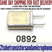9.520 MHz CRYSTAL 80 METER 3.500 - 4.000 MHz FT-101B E EE EX F FE FL FR FX RADIO