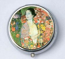 Klimt The Dancer PiLL case pillbox pill box holder Art Nouveau fine art painting