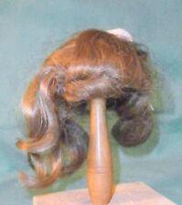 "antique doll wig light brown 7"" to 7.5""/shoulder length/Germany"
