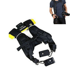 Quick Rapid Adjustable Double Dual Shoulder Sling Belt Neck Strap Camera DSLR AU