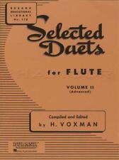 Selected Duets for Flute Volume 2 Rubank Sheet Music Book Advanced Classical