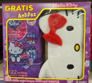 Hello Kitty Saba Sanitary Pads 22 XL Pads + 1 Hello Kitty Mask Antifaz