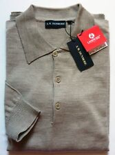 A.W.Dunmore HE Polo Pullover Gr.60 Merinowolle 100% beige Mel.UVP54,99€ NEU