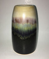 "Vintage CPNP Art Pottery Drip Glaze Vase~4 3/4"""