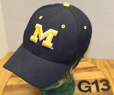 ZEPHYR UNIVERSITY OF MICHIGAN WOLVERINES HAT BLUE FITTED SIZE 7 1/8 VGC G13