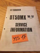 Yamaha DT50MX 86 / 87 DTMX 50 DT service information technique technical data FR
