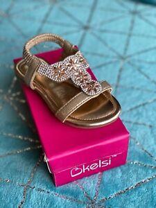 Kelsi girls infants rose gold sandals