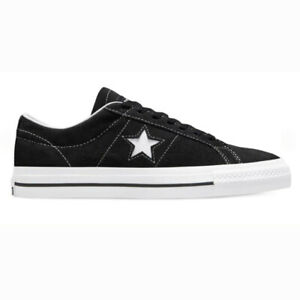 Converse One Star Pro Ox Black Black White Mens Suede Skateboard Shoes