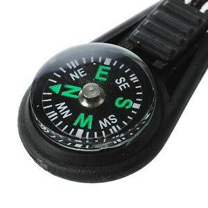 EDC Lanyard Compass Small Lightweight Survival Emergency Camping Hiking Tools