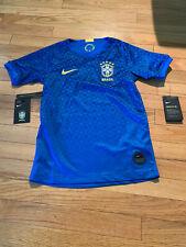 Nike Brazil 2019-20 Wc Youth Unisex Away Jersey Aj4439 453 - Blue Small Nwt $75