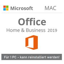 Microsoft Office 2019 Home and Business für MAC | 1 PC | Original | EU | MS | DE