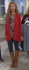 Susan Graver Cascade Front Long Sleeve Cardigan Sweater, Size XXS, MSRP $49