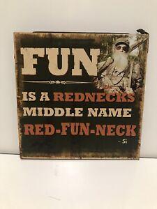 Red Fun Neck Sign, Duck Commander, Inc., Big Sky Carvers