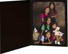 Black Slit-Corner Cardboard Photo Folder - Holds a 4x6 or 5x7 Photo - Pack of 25