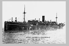 BENALLA as HMAT A24 - P & O Liner 1914 WW1 modern digital Photo Postcard
