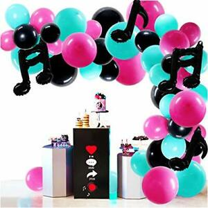 Music Balloons Musical Note Party Supplies Indoor Outdoor Garland Party