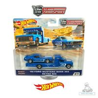 Hot Wheels Car Culture Team Transport 69 Ford Mustang Boss 302 Retro Rig